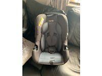 Mania from birth car seat