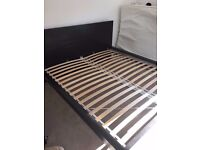 Malm black king size bed frame excellent condition