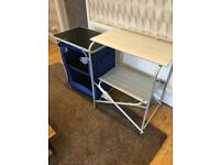 Aluminium camping kitchen and table set