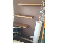 Two metal and leather bar stools