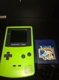 Nintendo Gameboy Color And Pokemon Blue