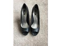 ASOS Black Peeptoe Shoes