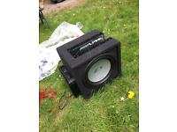 car subwoofer and amp - Alpine - like new £90 ONO