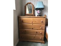 Pine chest with 4 double drawers looking for new home