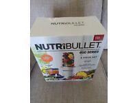 Nutribullet Brand New in sealed box. 600 series 8 piece set