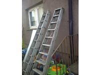 two sets of ladders