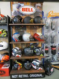 MOTORCYCLE HELMETS *** BELL, AIROH, LS2, SCORPION, STEALTH & GSB *** Full range in stock - LURGAN