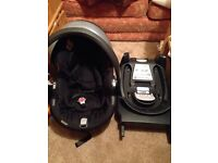 Be safe car seat and ISO fix base
