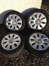 "Audi 16"" alloy wheels c/w tyres"