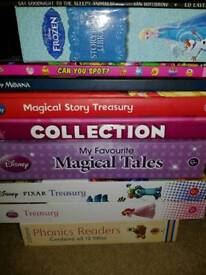 Collection of children's books.