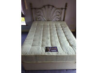 Attractive metal headboard 5' double bed with medicare mattress