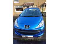 BLUE PEUGEOT 207 58 PLATE £1,000 NO OFFERS