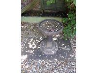 Garden Bird Bath & GARDEN PLANTERS - CONCRETE Pots