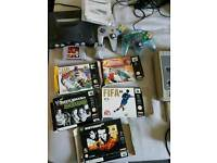 Nintendo 64 with 5 boxed games and 2x controllers
