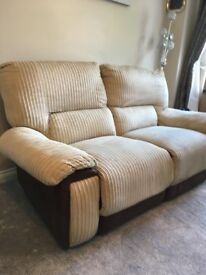 2 X TWO SEATER RECLINING SOFA
