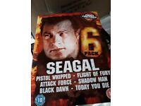 3 boxed sets of Steven Segal movies