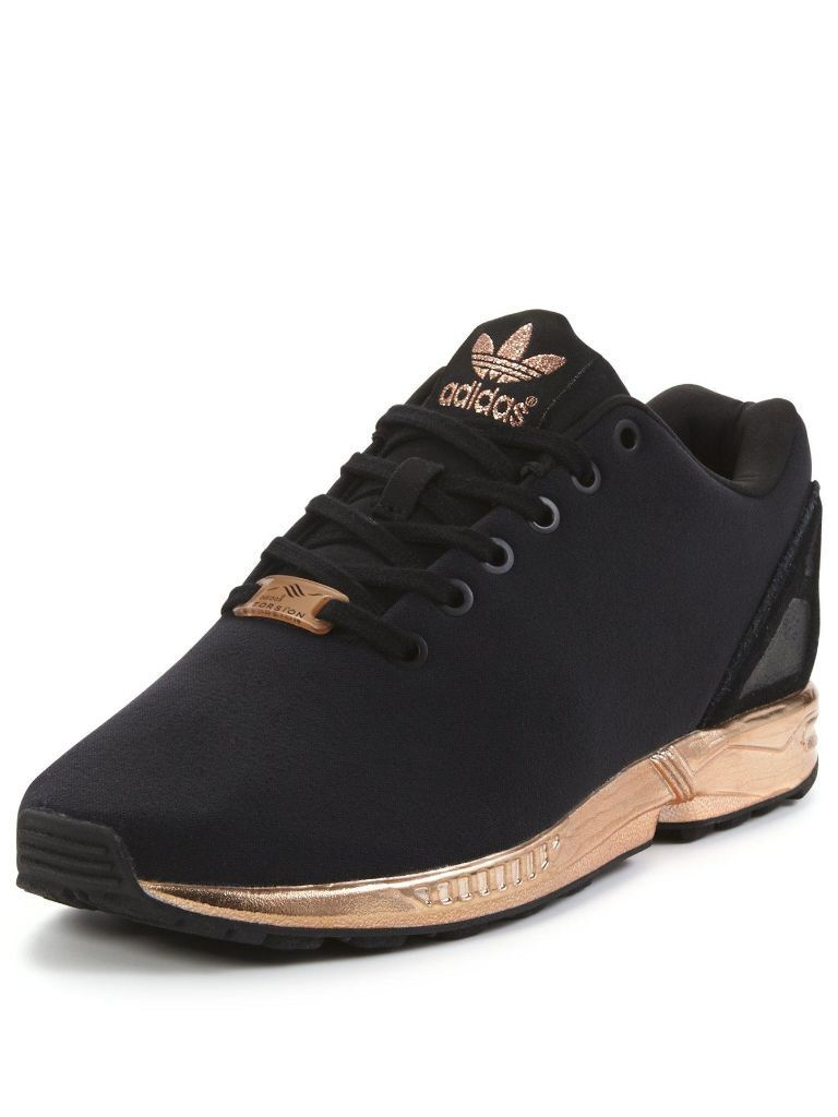 rare adidas zx flux gold rose copper new in elephant and. Black Bedroom Furniture Sets. Home Design Ideas
