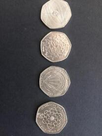 50p Coins various