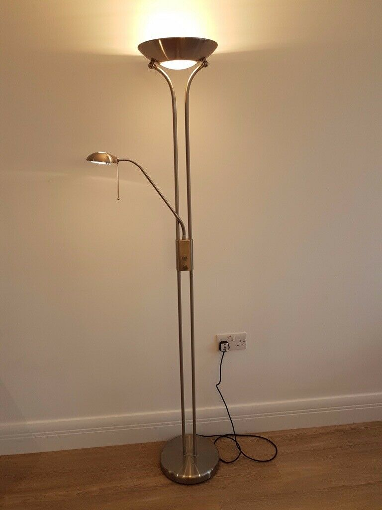 Mother Child Floor Lamp With Uplighter And Reading Light Both Dimmer Switches In Ripley Surrey Gumtree