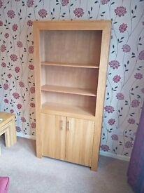 Large Solid Oak Bookcase, excellent condition