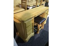 Never used solid oak dressing table and stool
