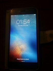 Used I phone 6 plus 64 gb gray with cover