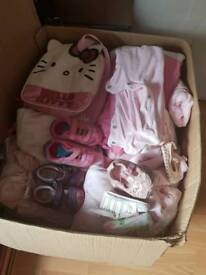 Big box of baby girl clothes from newborn - 9 months
