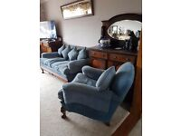 Edwardian 3 piece suite,2 seater sofa and 2 armchairs