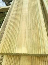 Tanalised Green Decking (28mm x 145mm) 4.8mtr Lengths