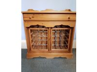 Antique Pine Wine Rack with Drawer - great condition.