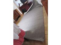 """Quality Carpet Remnant 3.65m x 1.99m """"Sandy Beach"""" Biege"""