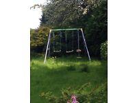 Garden swing set for children