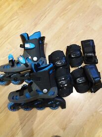Rollerboots and pads