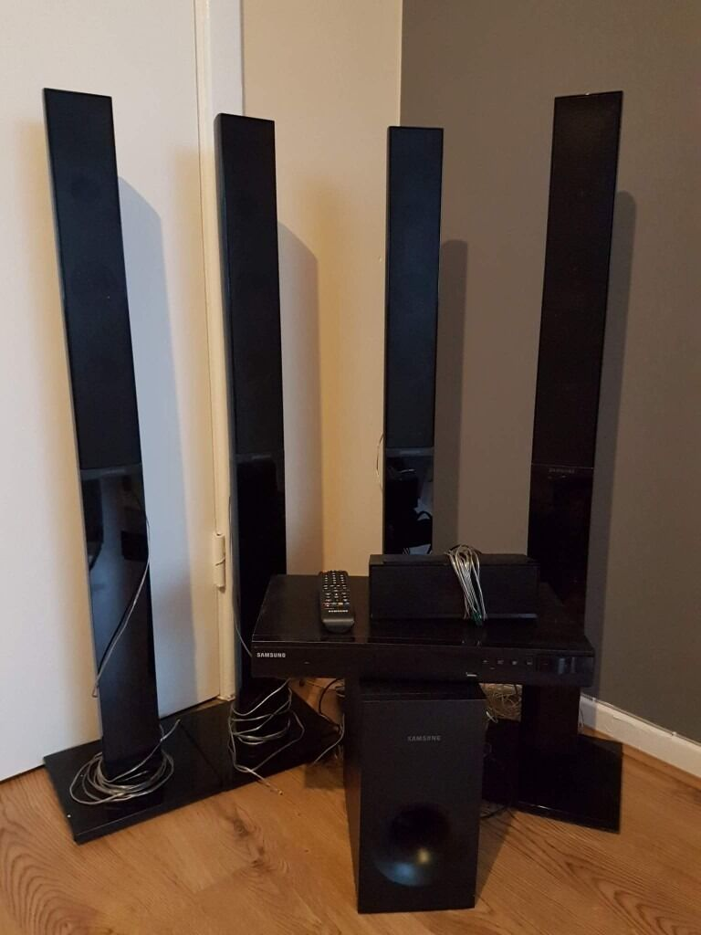 samsung ht e355 5 1 home cinema system with tallboy speakers in stockport manchester gumtree. Black Bedroom Furniture Sets. Home Design Ideas