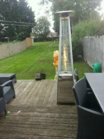 Pyramid patio heater like new with full gas bottle