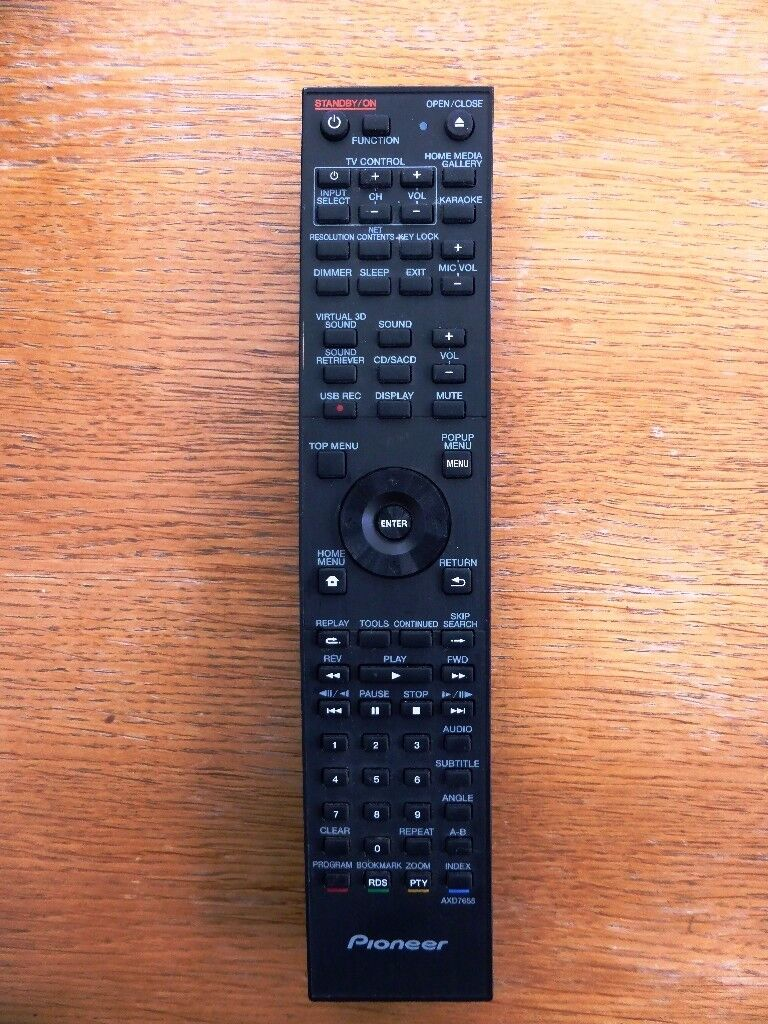 PIONEER AXD7655 GENUINE ORIGINAL REMOTE CONTROL FOR BLU-RAY BCS-222, BCS-424, ETC