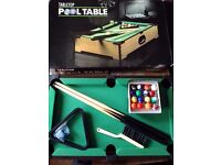 Micro Table top pool table - New, Complete and boxed