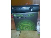 Xbox 360 elite with Kinect + Games