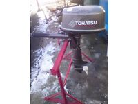 TOHATSU 5HP SHORTSHAFT OUTBOARD 2004