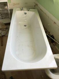 New White B&Q Bath