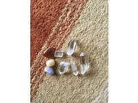 Quartz crystal pieces