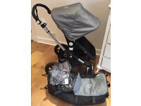 Bugaboo Cameleon 3 Grey Melange Pushchair and Carrycot Pram excellent condition