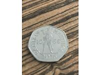 """Rare 2016 """"HASTINGS 1066"""" Mint conduction 50p"""