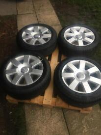 """Audi alloy wheels 16"""" and tyres"""