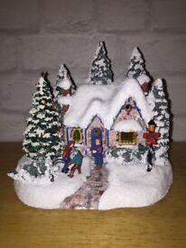 Thomas Kinkade Country Christmas Homecoming Light Up Ornament