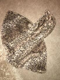 Leopard print next coat