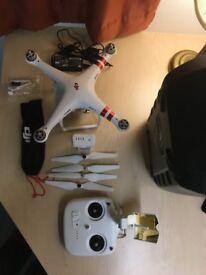 DJI PHANTOM 3 STANDARD STILL UNDER WARRANTY ''LIKE NEW'' DRONE