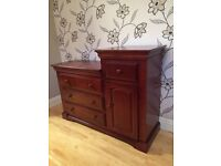 SOLID WOOD BABY CHANGING TABLE/UNIT WITH CHEST OF DRAWERS