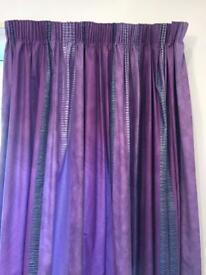 Purple/navy curtains from John Lewis