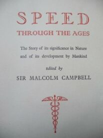 CIGARETTE CARD ALBUM SPEED THROUGH THE AGES BY MALCOLM CAMBELL.
